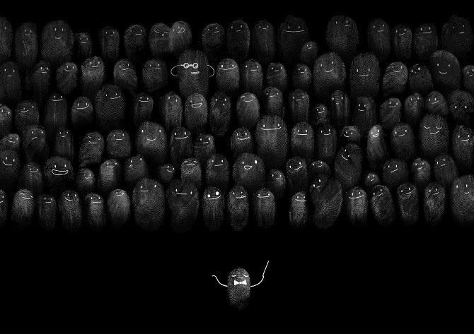 Adorable-Fingerprint-People-Art