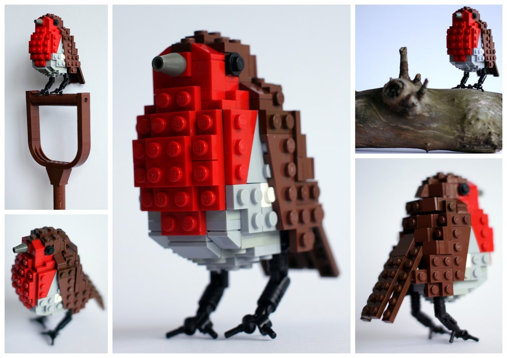 6 Beautiful British Birds All Created From Lego