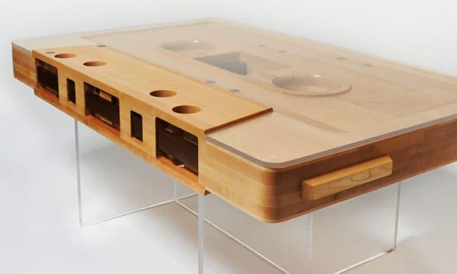 Retro Brilliance: The Cassette Tape Coffee Table