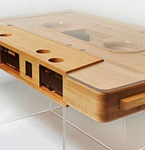 Retro Brilliance: The Cassette Tape Coffee Table