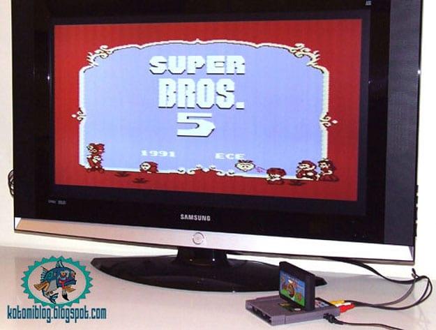 Famicartridge-Plugged-in-Nintendo