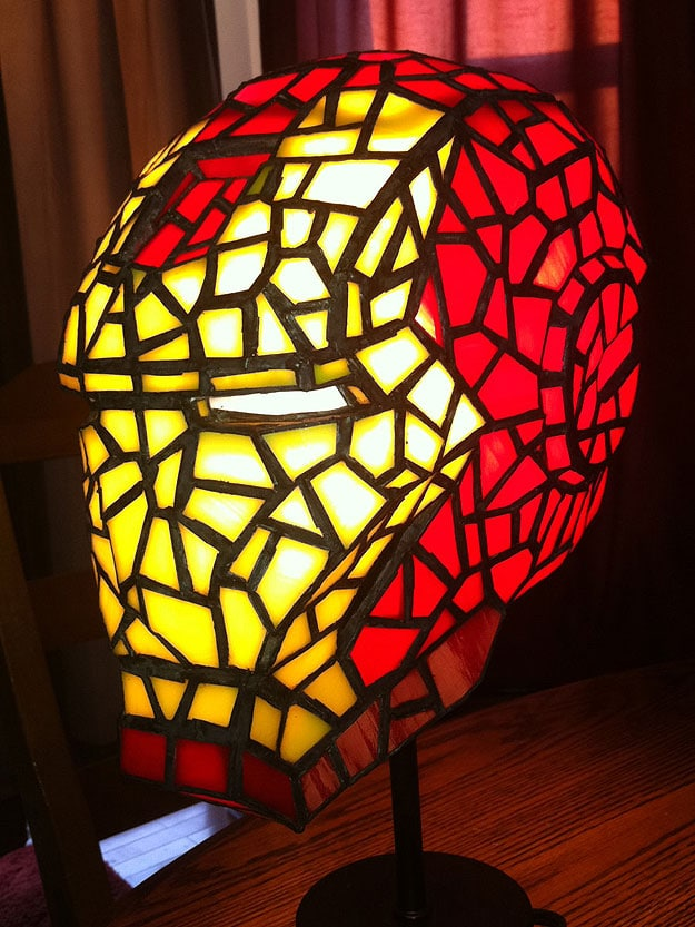 Spectacular Iron Man Stained Glass Helmet