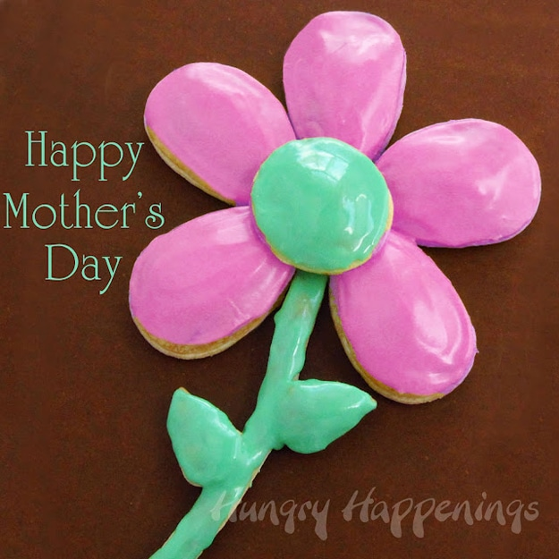 Make A Mother's Day Bouquet Of Flowers Out Of Cookies