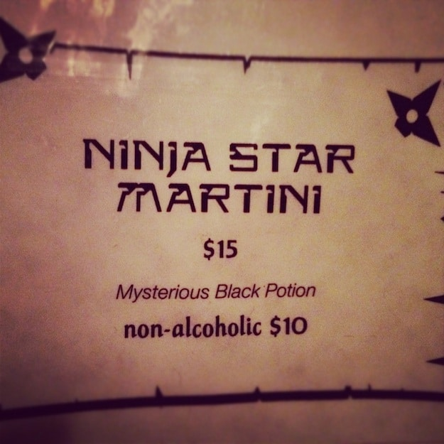 Ninja-Star-Menu-Description