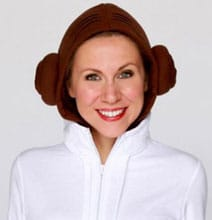 Princess Leia Hoodie Complete With Buns & New Hope Belt