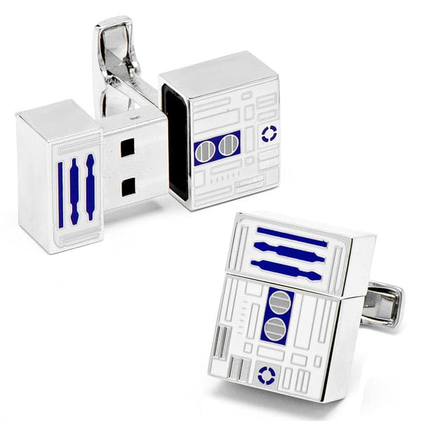 R2-D2 USB Flash Drive Cufflinks Will Make The Geek Girls Swoon