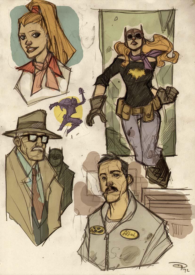 Rockabilly Batgirl concept Denis Medri