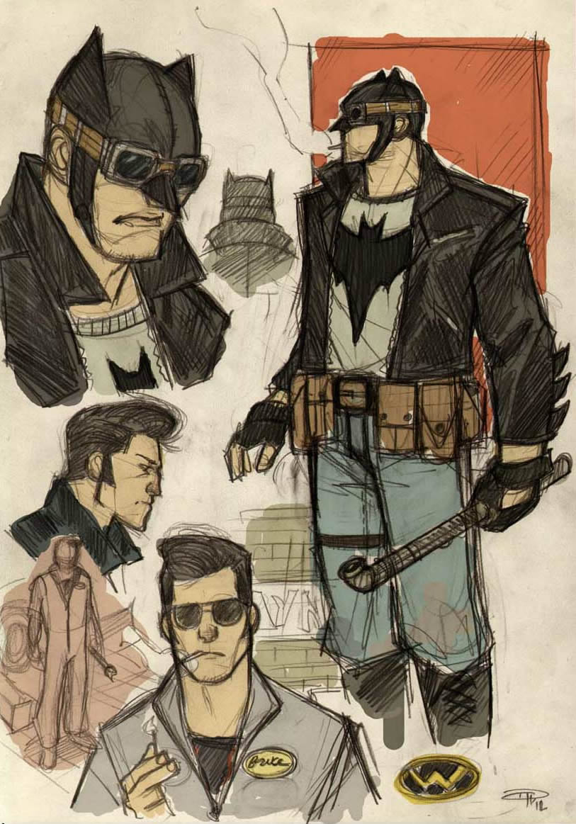 Rockabilly Batman Concept Denis Medri