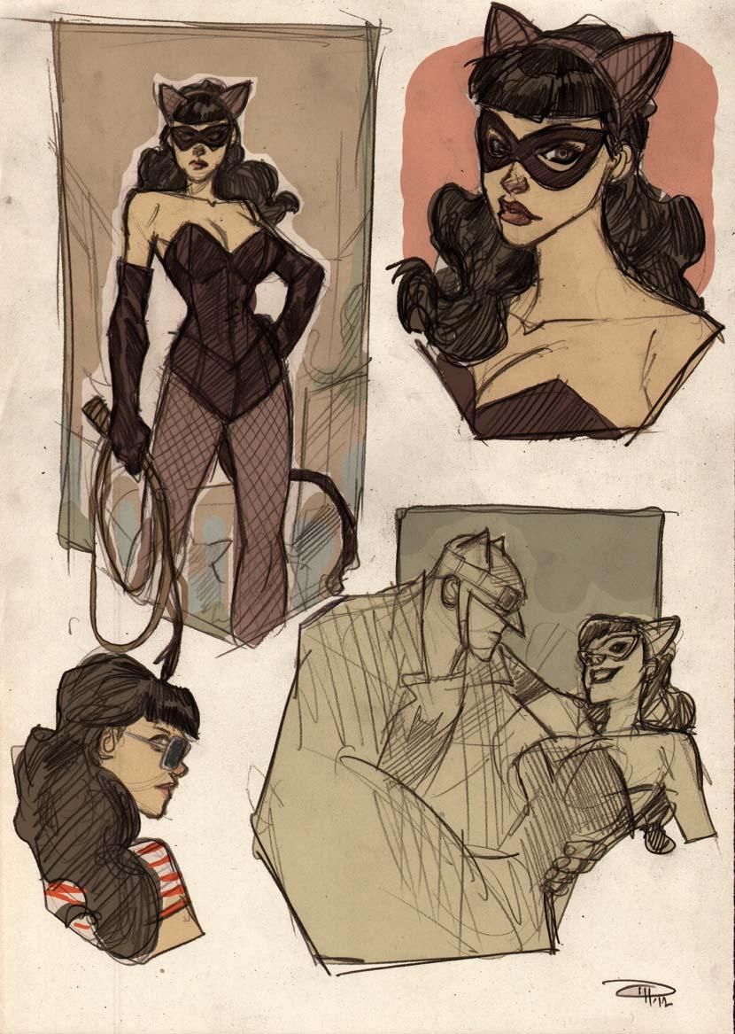 Rockabilly Catwoman concept Denis Medri