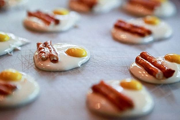 Sweet Breakfast: Sausage & Eggs Made From Chocolate & Pretzels