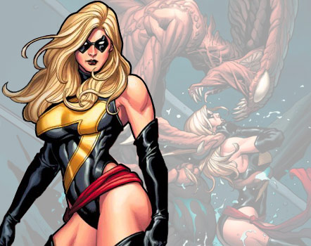 Blonde and buff Carol Danvers