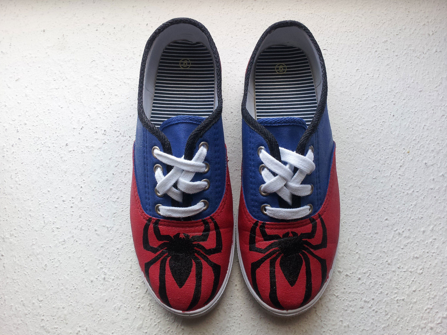 Spider-Man-Hand-Painted-Shoes