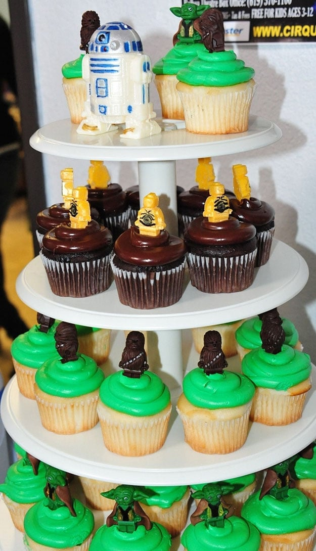 Star Wars Cupcakes With Handmade Edible Lego Minifigs