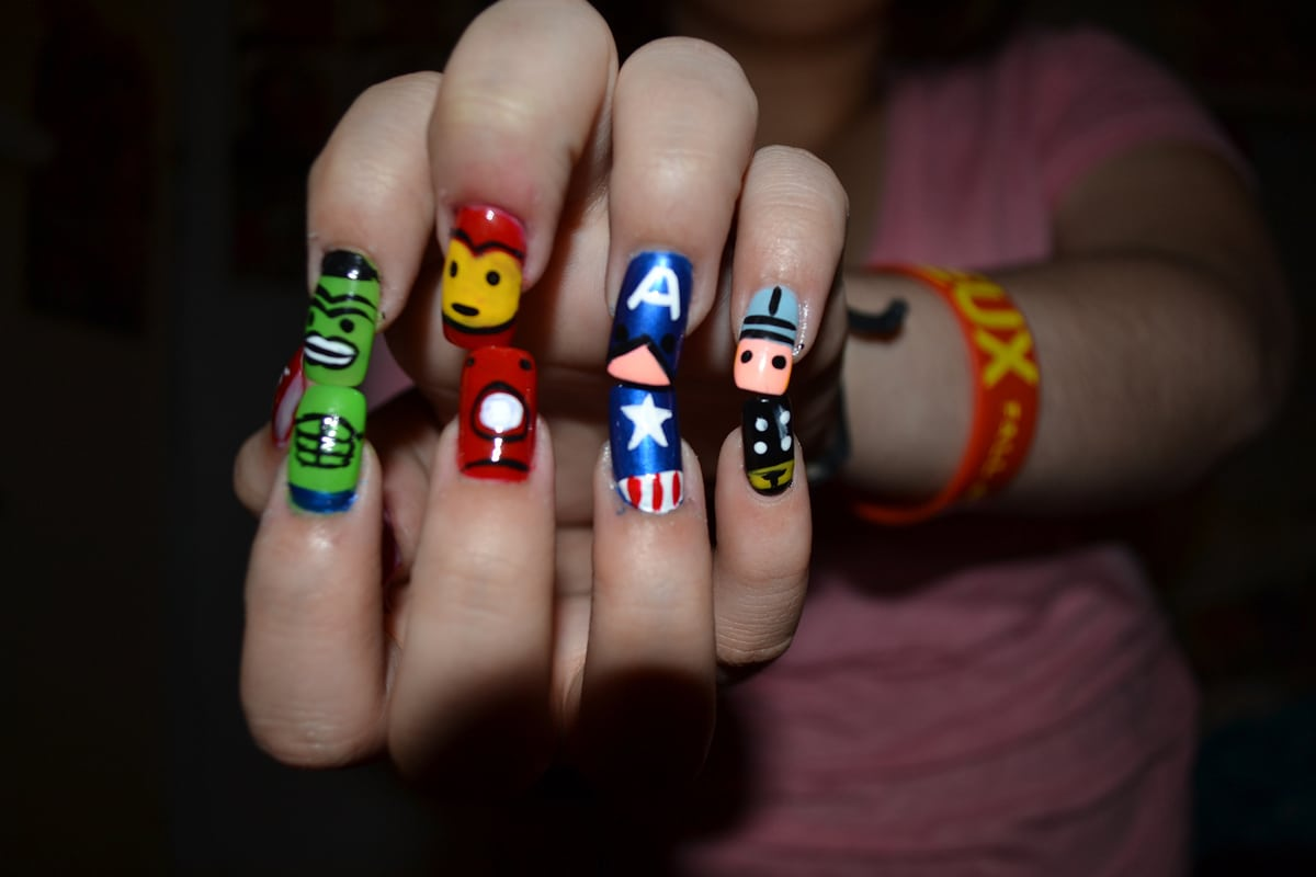 Creative & Colorful Nail Art Inspired By The Avengers