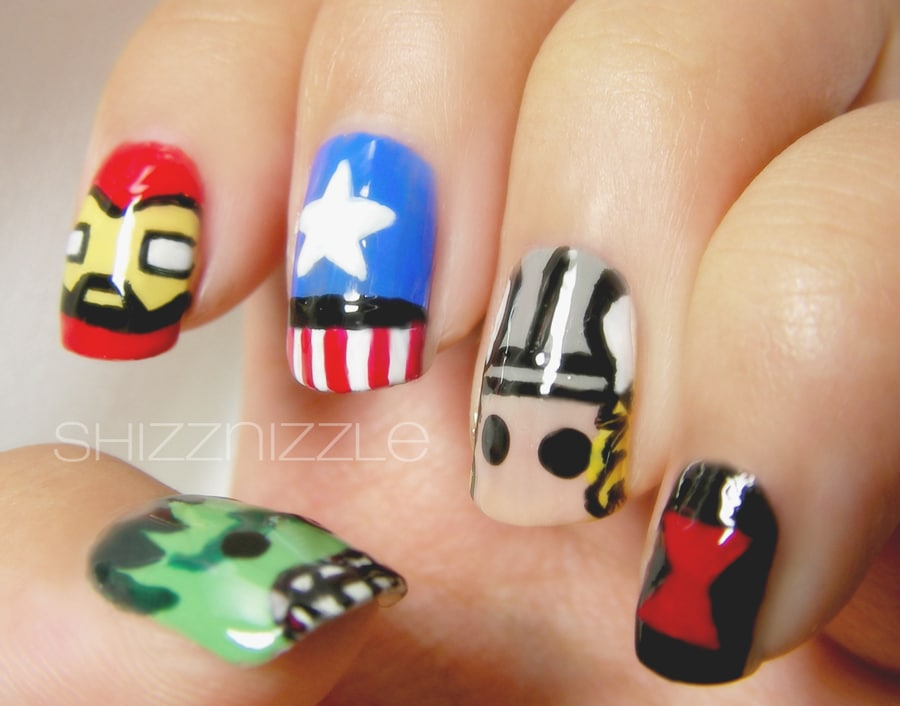 Creative amp; Colorful Nail Art Inspired By The Avengers
