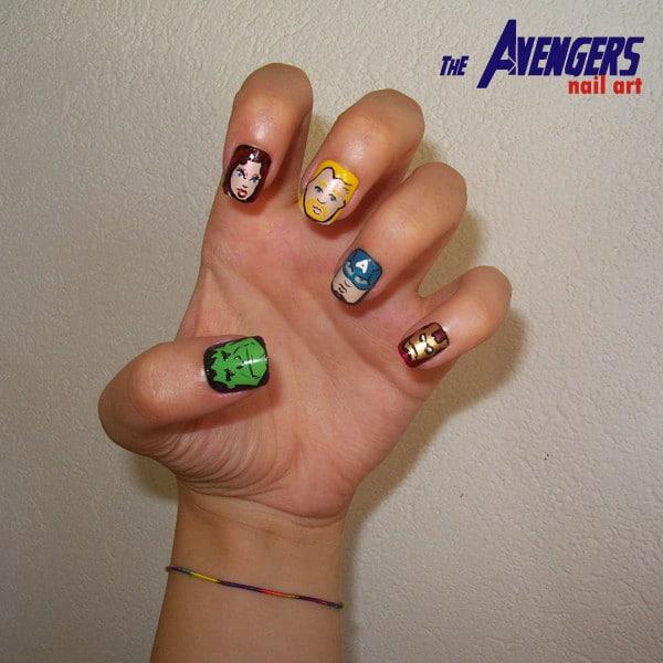The-Avengers-Nail-Art