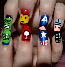 The-Avengers-Nail-Art-Designs