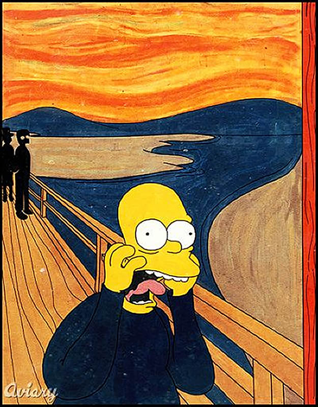 Pop Culture Work Inspired By Edvard Munch   s    The Scream   The Scream Edvard Munch Parody
