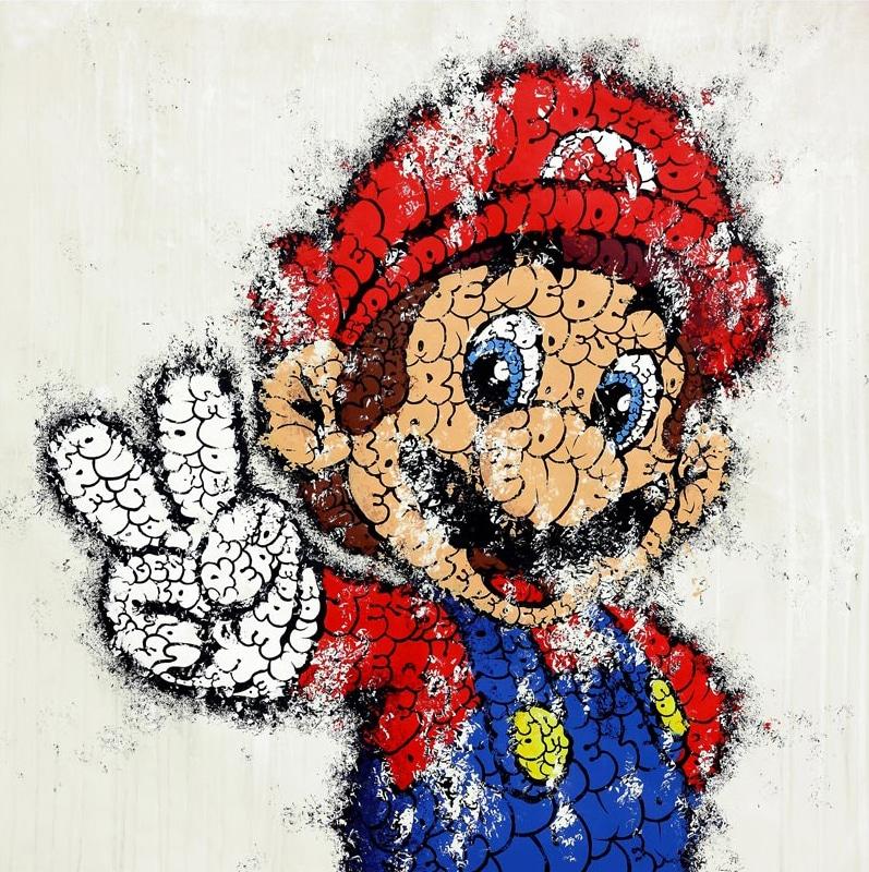 Mario's Graffiti World: Mario & Family Redesigned In Graffiti