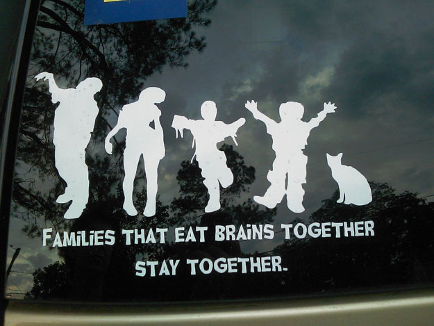 Zombie Family Car Decals: If You Can't Beat Them, Join Them