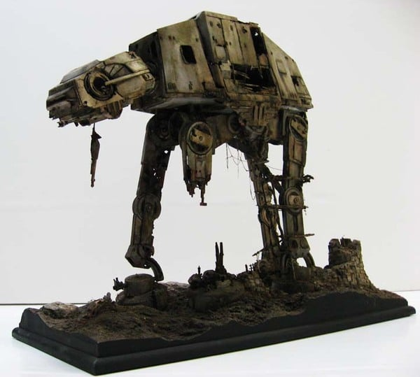 Unreal Deteriorating Star Wars AT-AT Refuge
