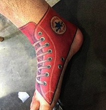 Converse Shoe Foot Tattoo For The Trendy