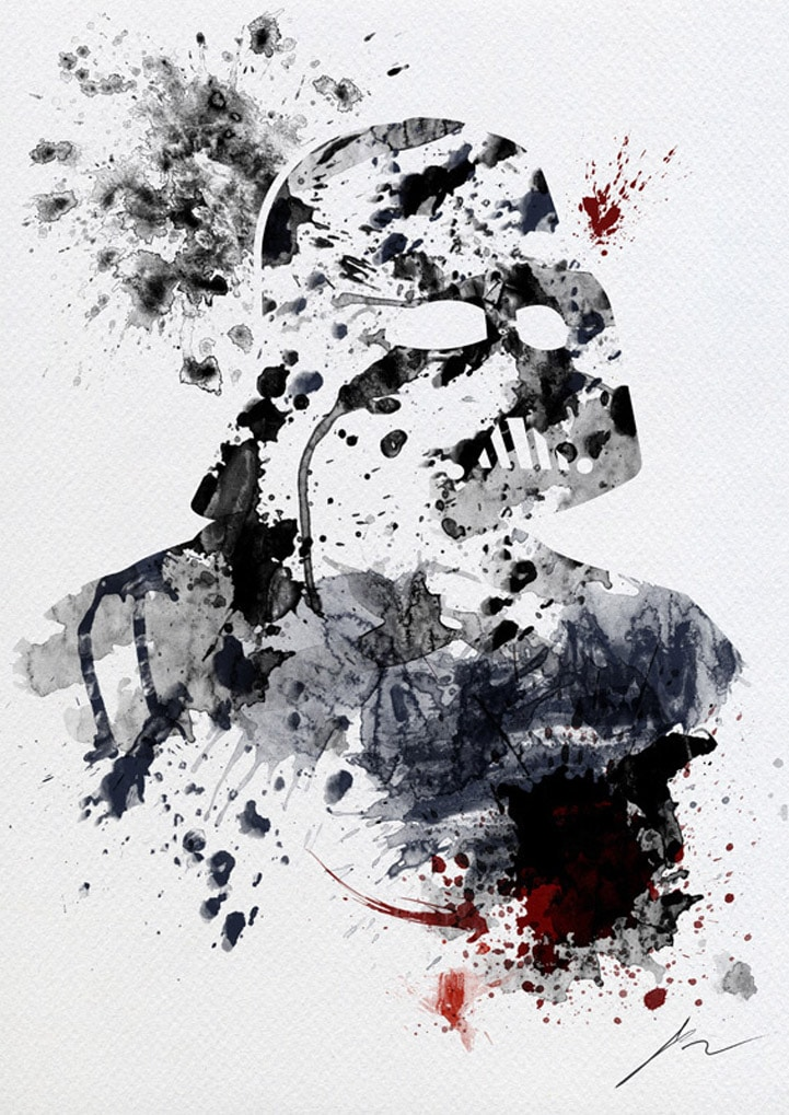Star Wars Paint Splatter Art For Modern Interior Design