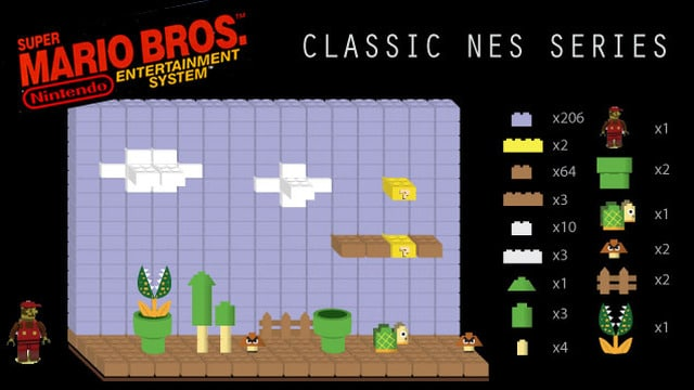 Classic Nintendo Game Scenes Recreated Using Lego