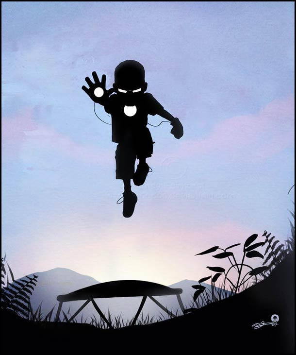 silouhette-kid-avengers-comic