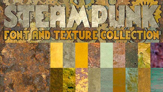 A New Steampunk Font & Texture