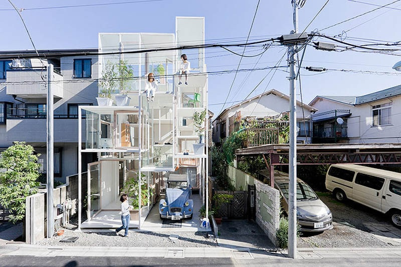 The Completely Transparent House With No Privacy