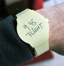 Wear Your Agenda With Wrist Watch Post-It Notes