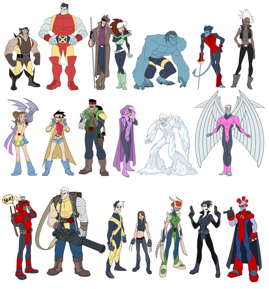 X-Men Characters As Disney Cartoons