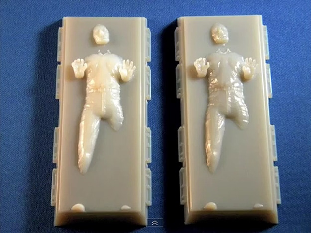 3D Printed Han Solo Frozen In Carbonite Is Picture Perfect