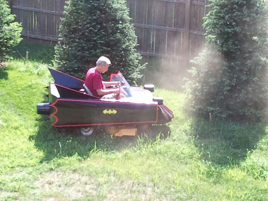 Batmobile Lawn Mower Mod: Okay, Now I'll Learn To Cut The Grass
