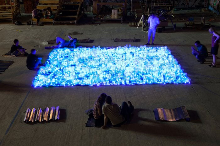 Stunning Swimming Pool Created With 2,000 Cups & Glasses