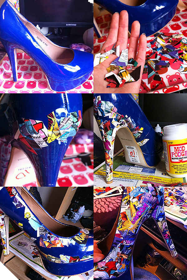 Killer DIY Comic Strip High Heels