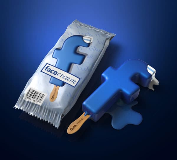 Facebook Ice Cream For Facebook Addicts With A Sweet Tooth