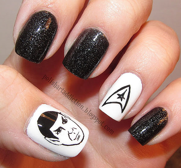 Geeky Cartoon Manicures: SpongeBob, Mario, Star Trek & More