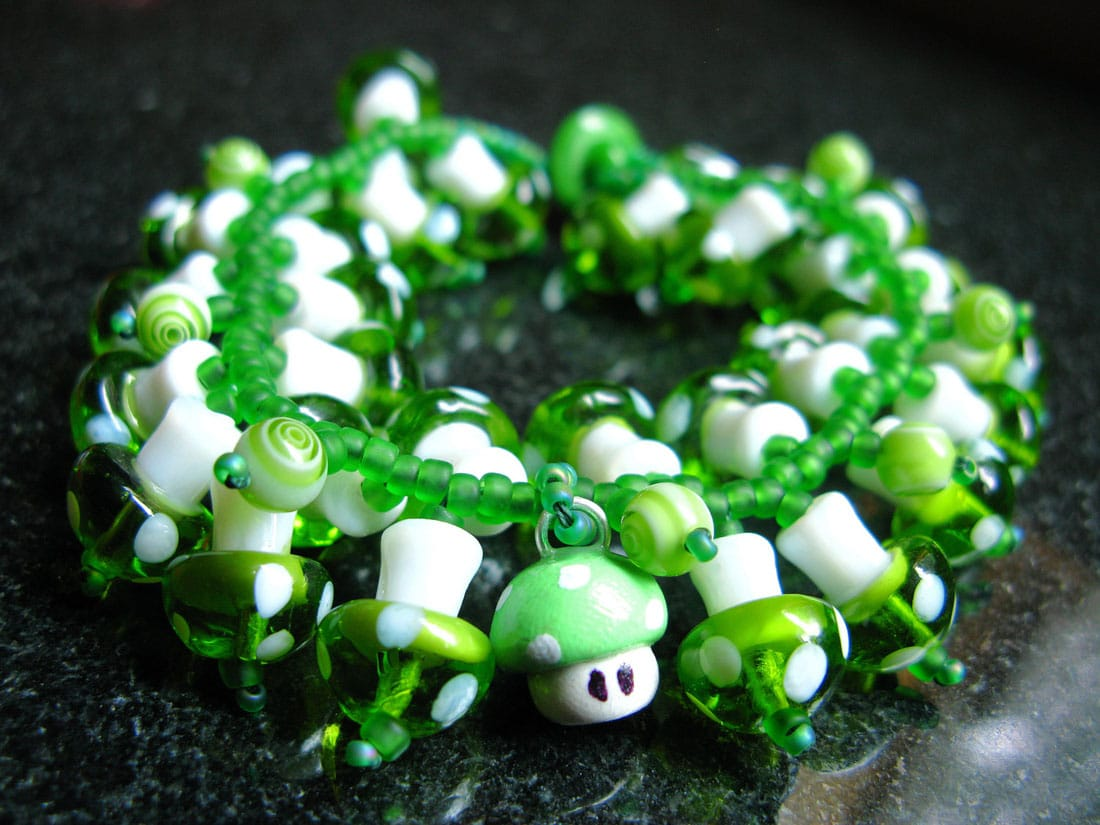 Geek It Up With The Super Mario 1Up Mushroom Charm Bracelet