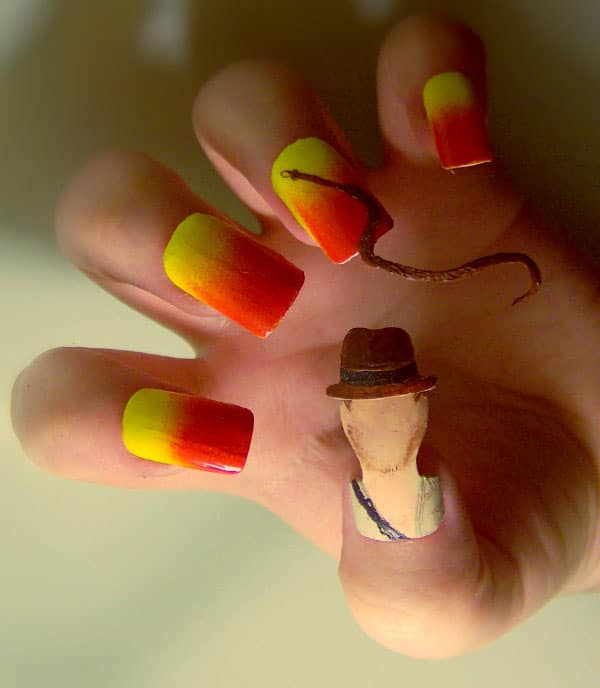 15 Extraordinary Movie & Television Inspired 3D Nail Art Designs