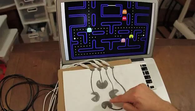 Pacman-Drawing-Becomes-Computer-Keyboard