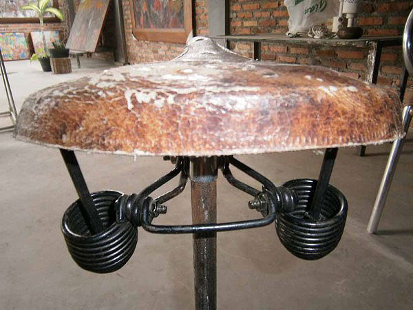 Recycled-Bike-Seat-Stool