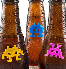 Space Invaders Drink Markers: Never Lose Your Beer Again