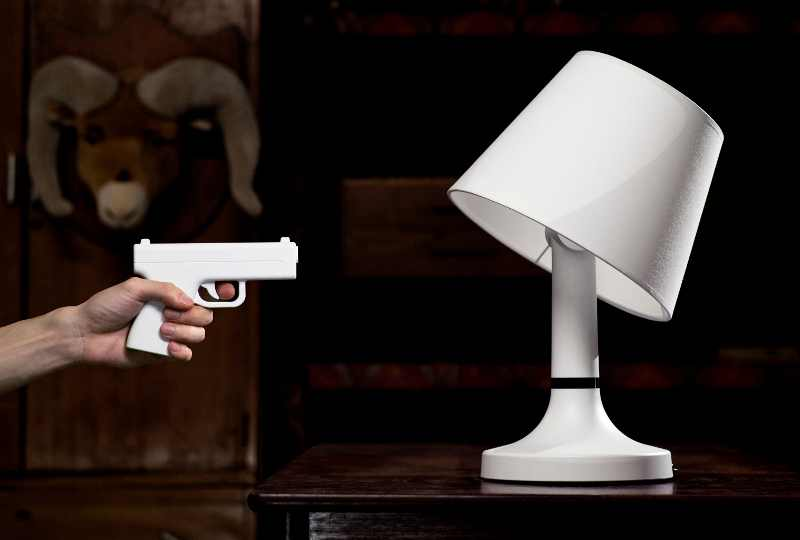 Shoot The Lights On With A Remote Control Gun