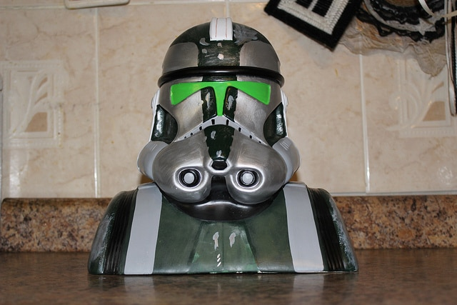 Star Wars Clone Trooper Commander Gree Cookie Jar