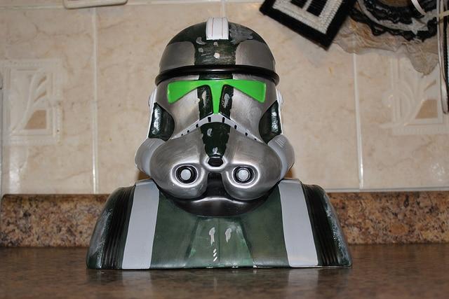 Star Wars Clone Trooper Commander Gree Cookie Jar