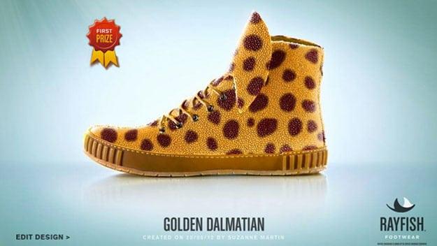 golden-dalmation-shoe-design