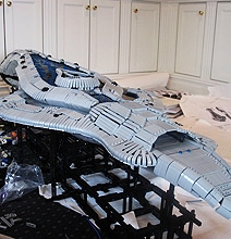 Epic 6-Foot Long Lego Halo Assault Carrier