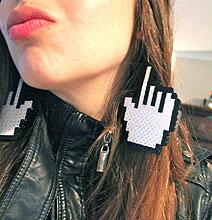 Geeky, Gaudy & Gigantic Pixel Mouse Earrings